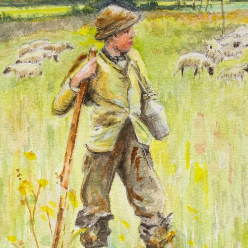 Sheppard Boy (after Sir George Clausen) Thumbnail