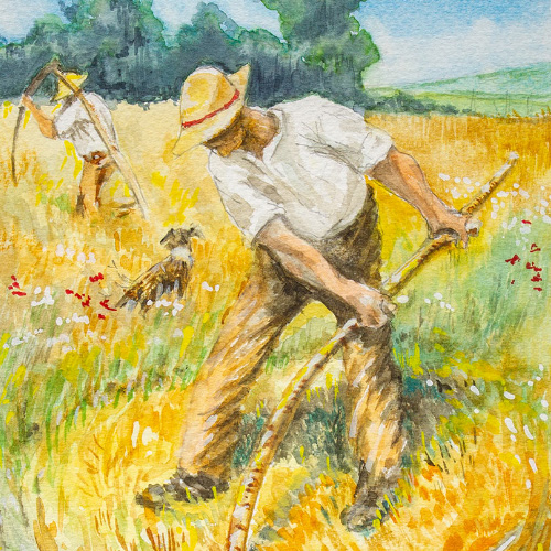 Mowing (after Sir George Clausen) Thumbnail
